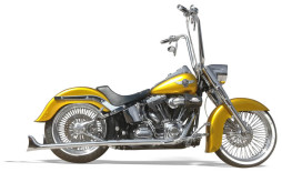 Chrome True Duals with Long Fishtail Mufflers No Baffle For Softtails Years '89 – '06 & Years '07 – '16